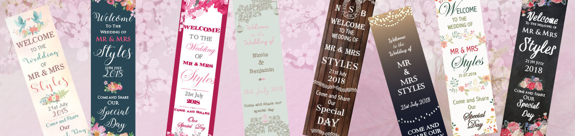 Pop-Up Wedding Signs