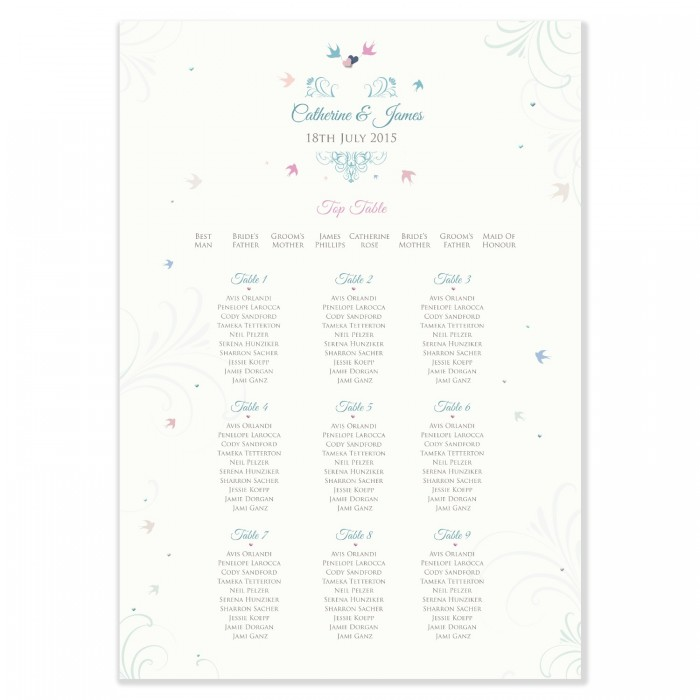 With This Ring Wedding Table Plan - A