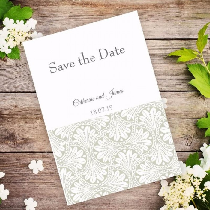 Gold Art Deco Save the Date Card