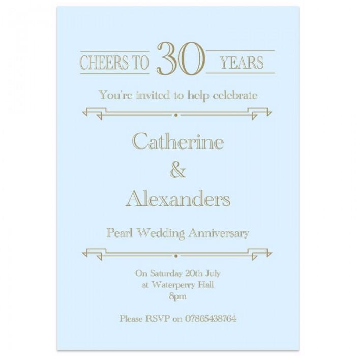 Cheers Wedding Anniversary Invitations