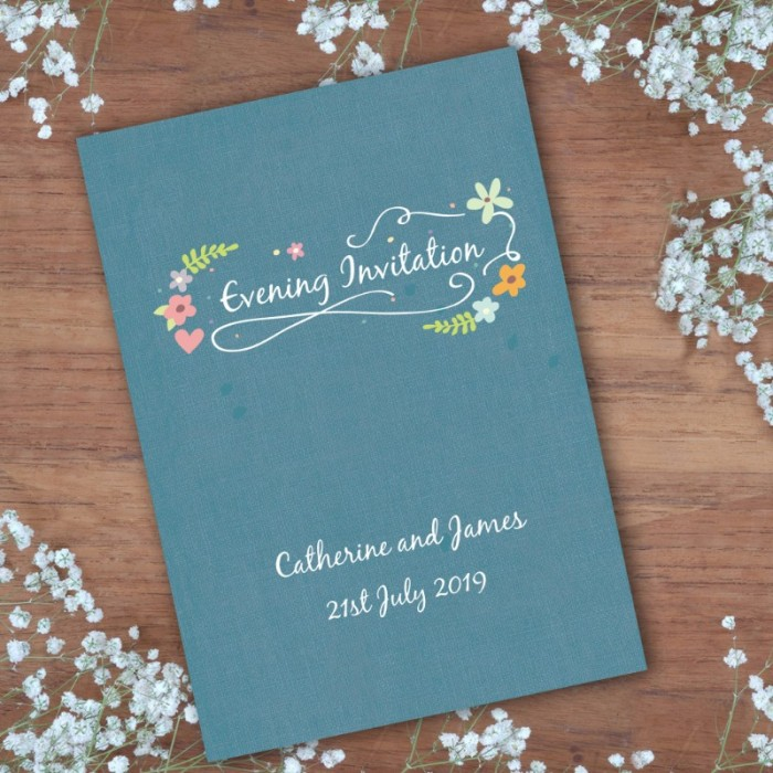Book of Love Evening Invitation
