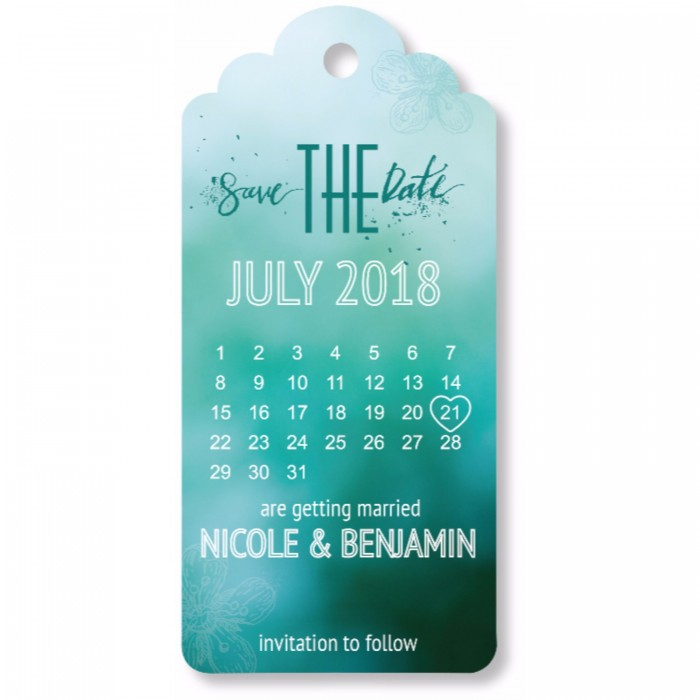 Botanical Save the Date Magnet
