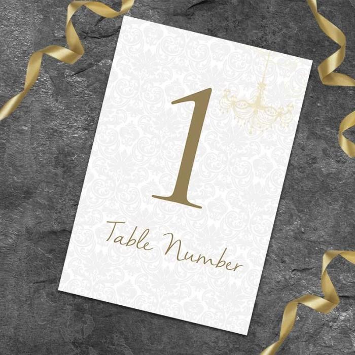 Bride & Groom Table Numbers - Pack of 10