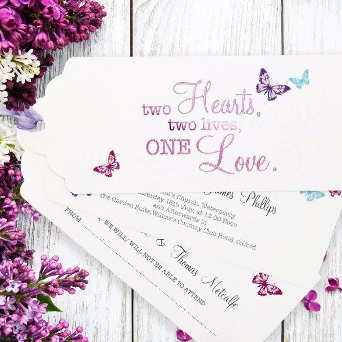 Two Become One Wedding Invitation | Paper Themes Wedding Invites