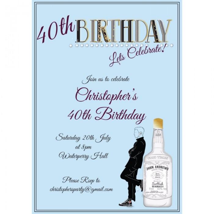 Lets Celebrate Birthday Party Invitation