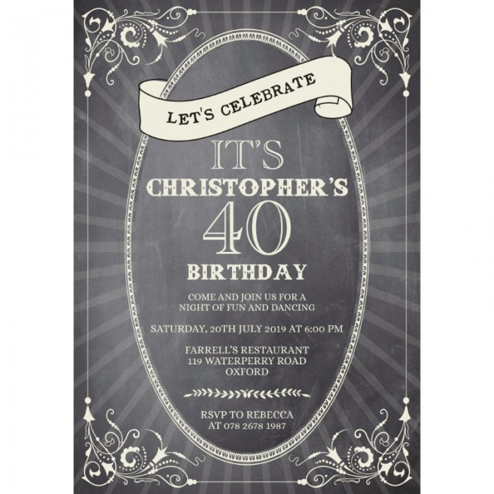 Celebration Birthday Party Invitation