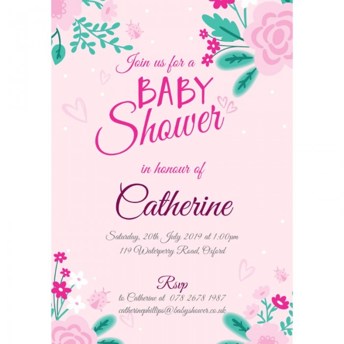 Floral Shower Baby Shower Invitation