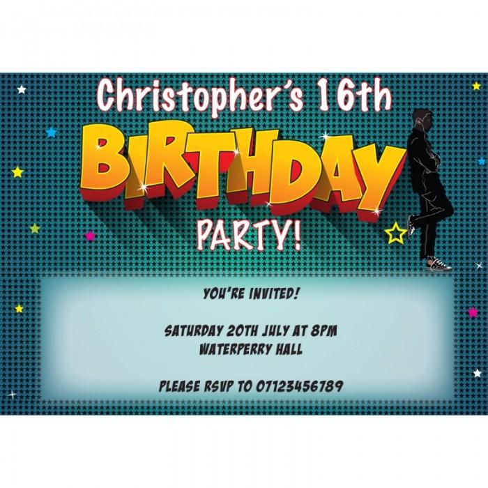 10 Personalised Photo Birthday Invites Invitations Black Stars Photo Hen Party