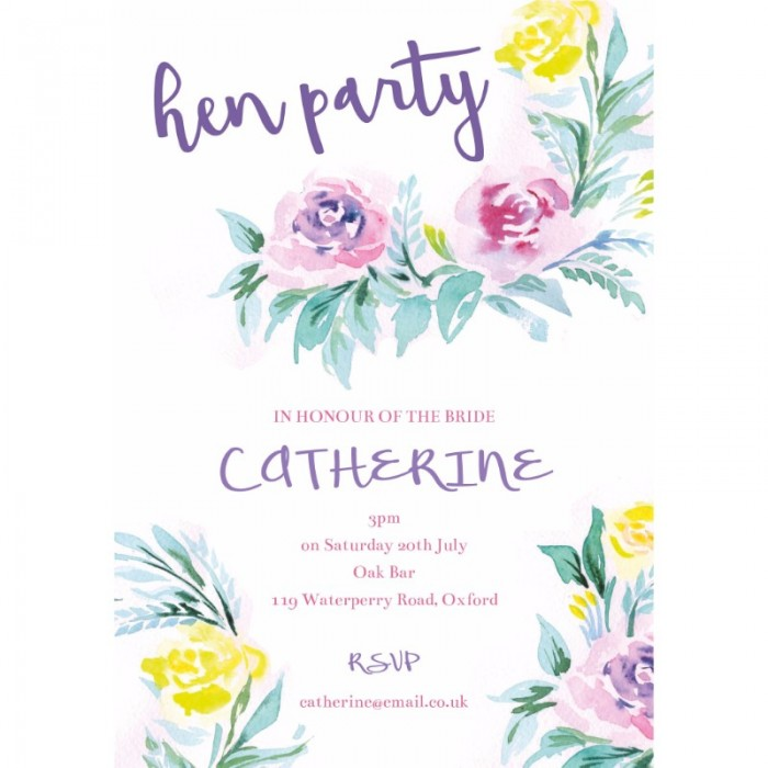 Floral Delight Hen Party Invitations