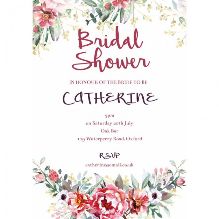 Floral Bliss Bridal Shower Invitations