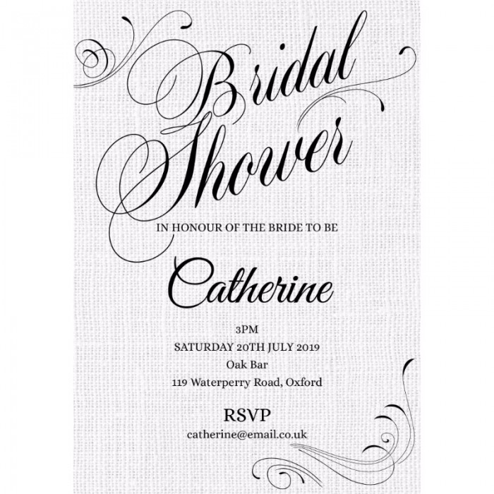 Formal Bridal Shower Invitations