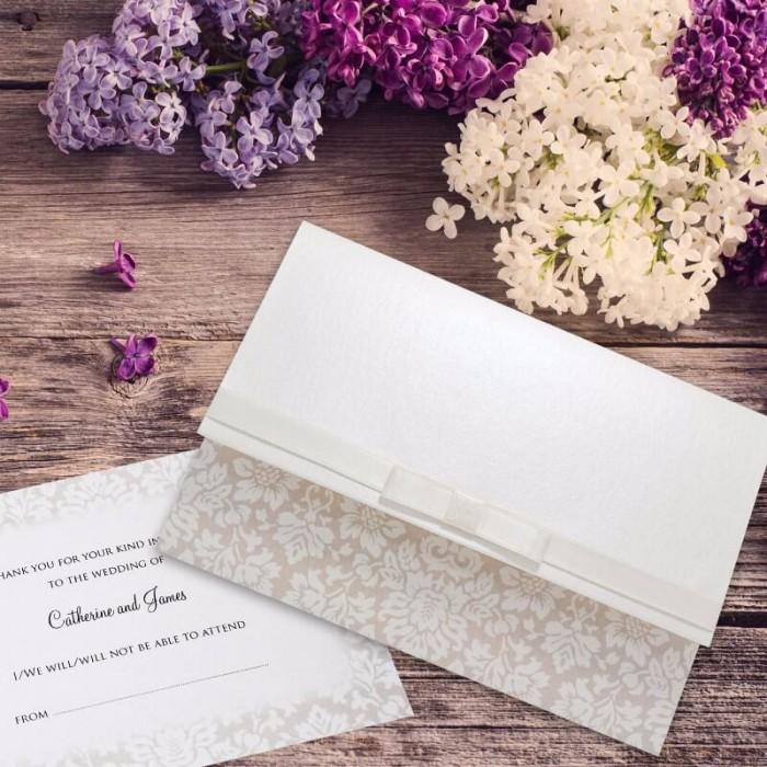 Wedding Damask Wedding Invitation