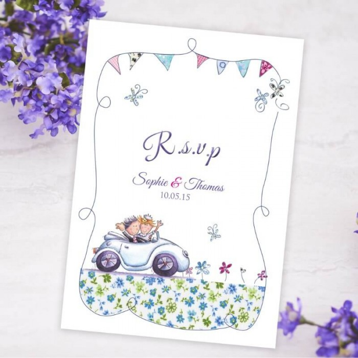 Our Big Day RSVP Card