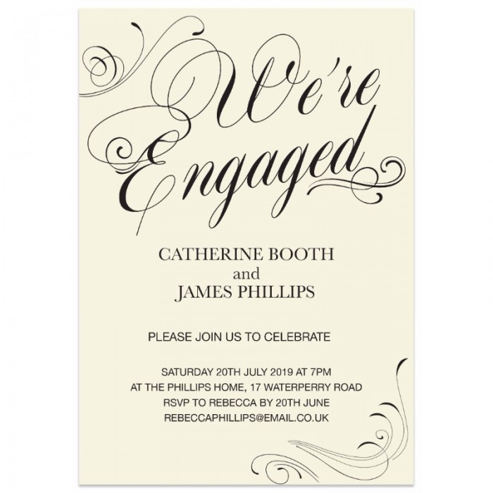 Formal Engagement Invitation