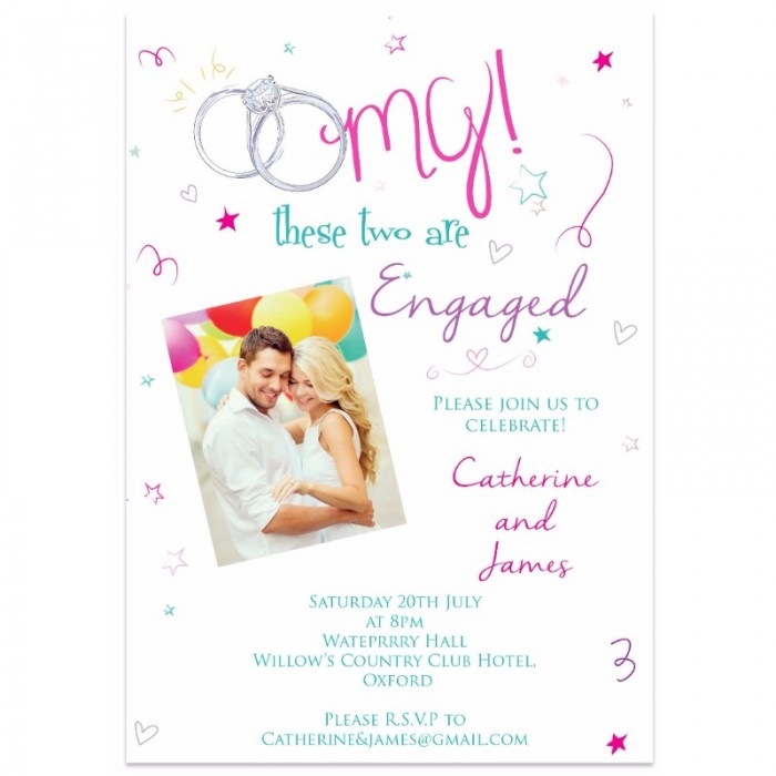 Oh Em Gee Engagement Invitation