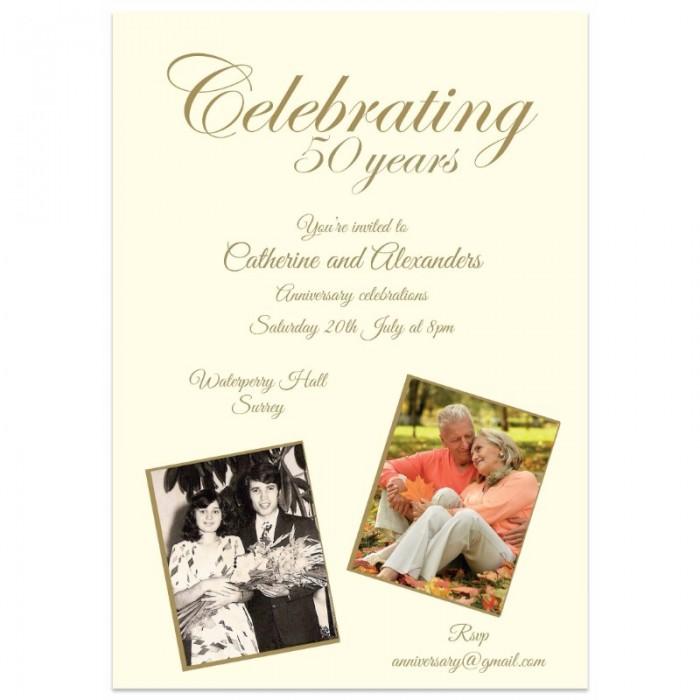 Celebrating Anniversary Invitations