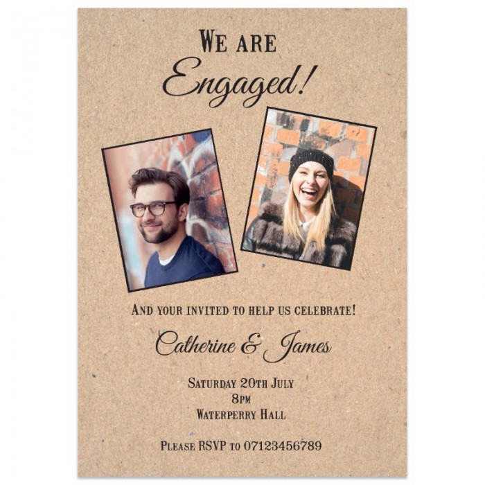These Two Are Engaged Engagement Invitation