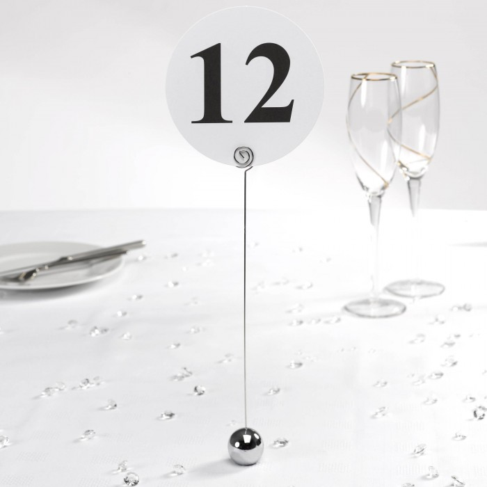Round Table Number Holder - Pack of 12