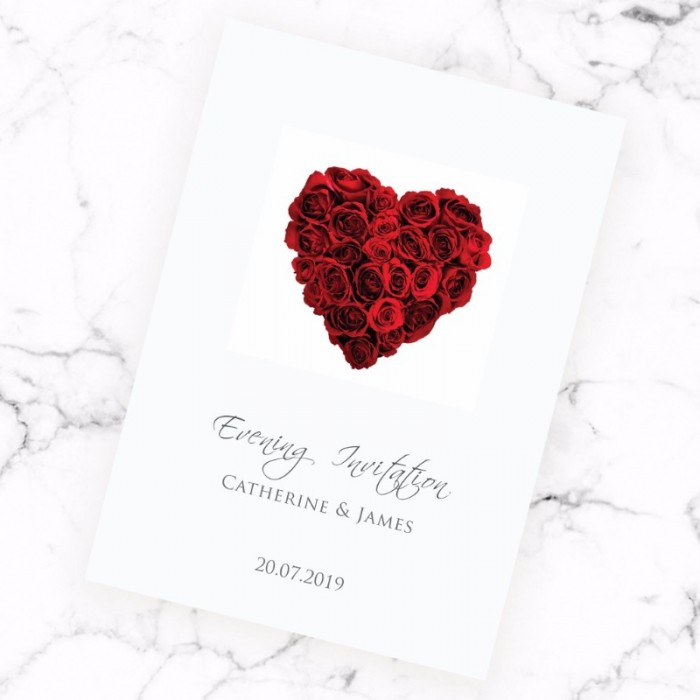 La Vie En Rose Evening Invitation