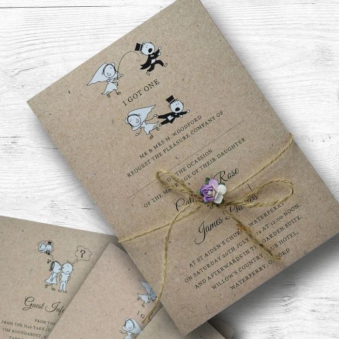 Vintage Wedding Invitations | Paper Themes Wedding Invites