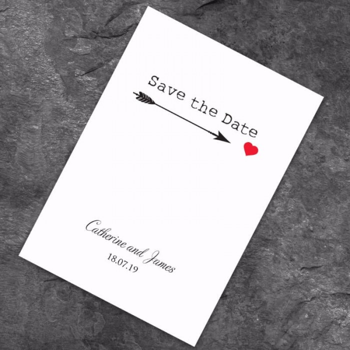 Love Match Save the Date Card