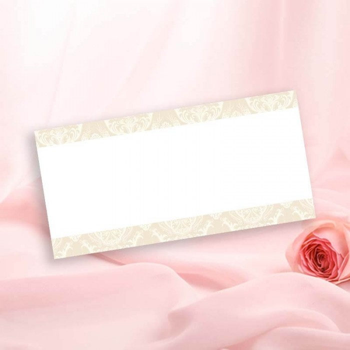 Diamond Heart Wedding Place Card
