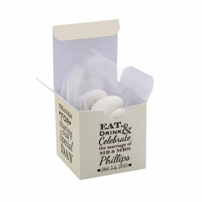 Eat Drink & Celebrate Favour Box - Pack of 12