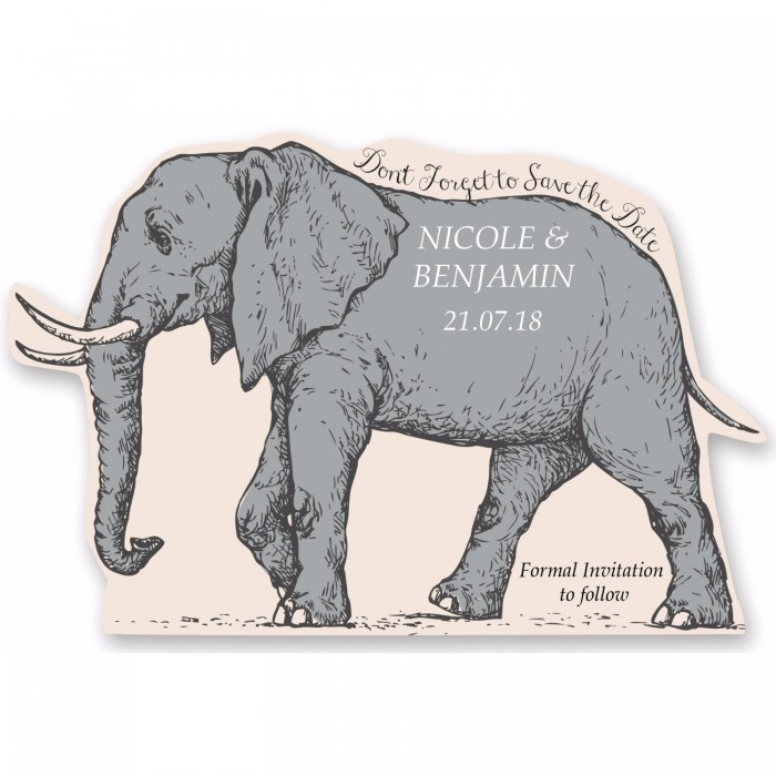 Elephant Save the Date Magnet