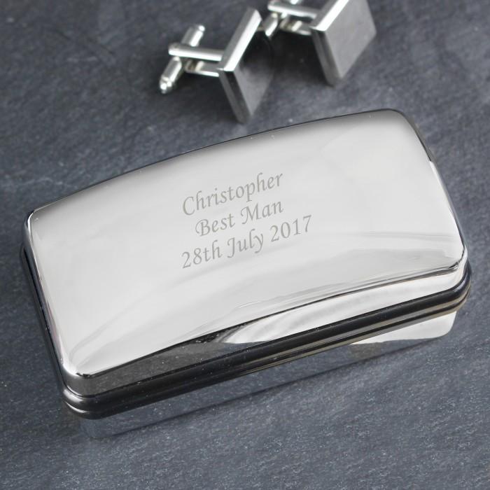 Engraved Cufflink Box