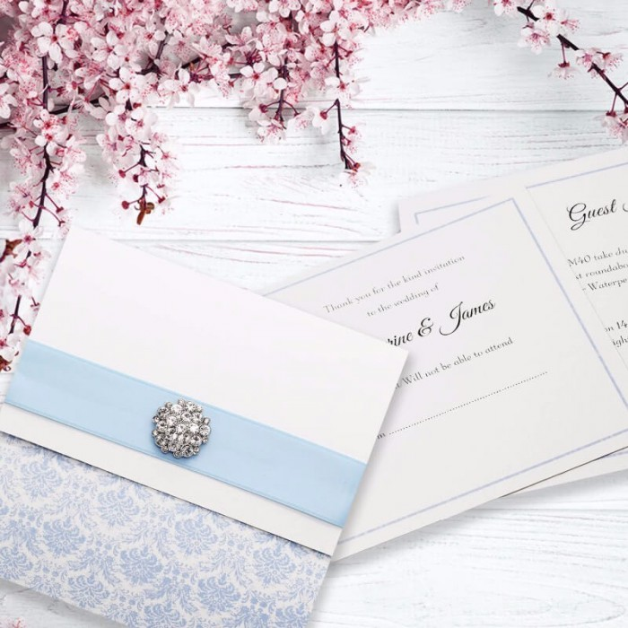 Blue Eternity Wedding Invitation