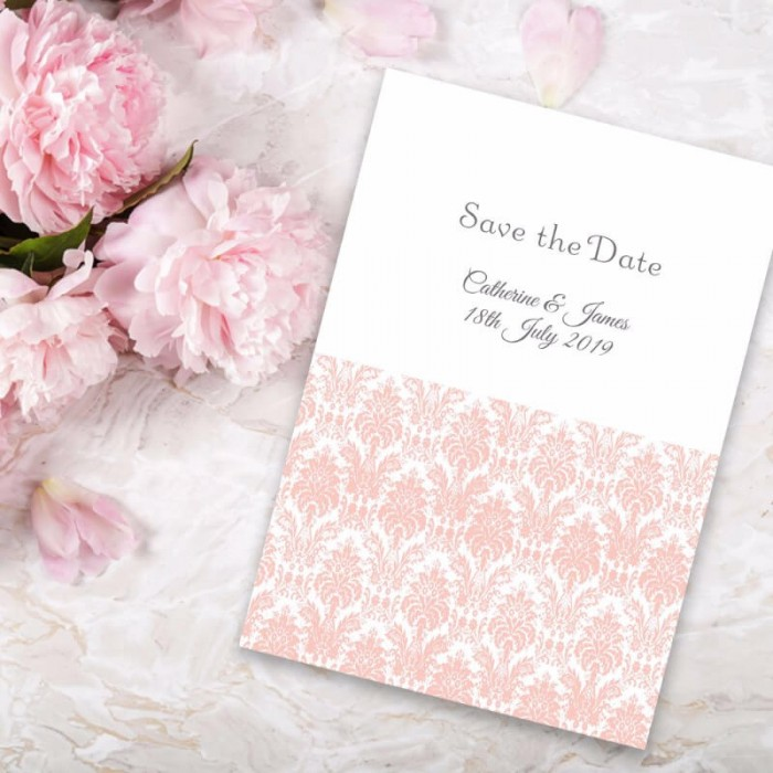 Pink Eternity Save the Date Card