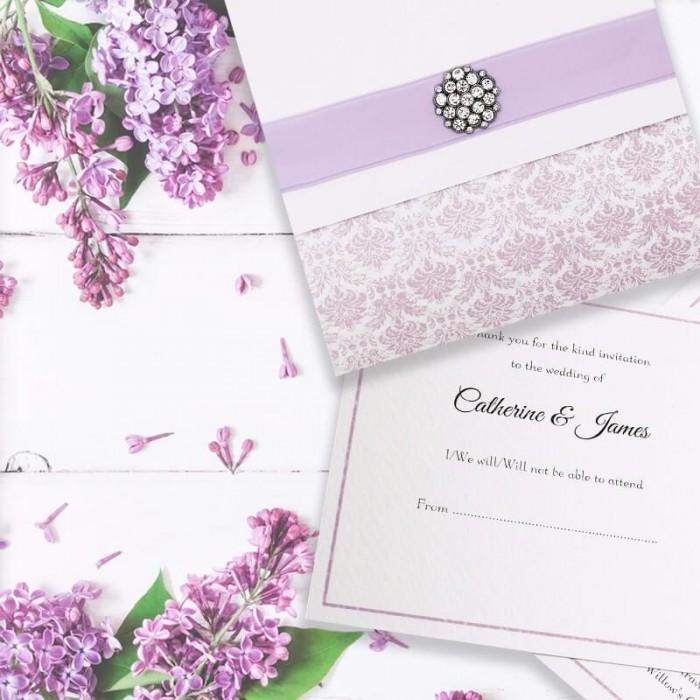 Purple Eternity Wedding Invitation