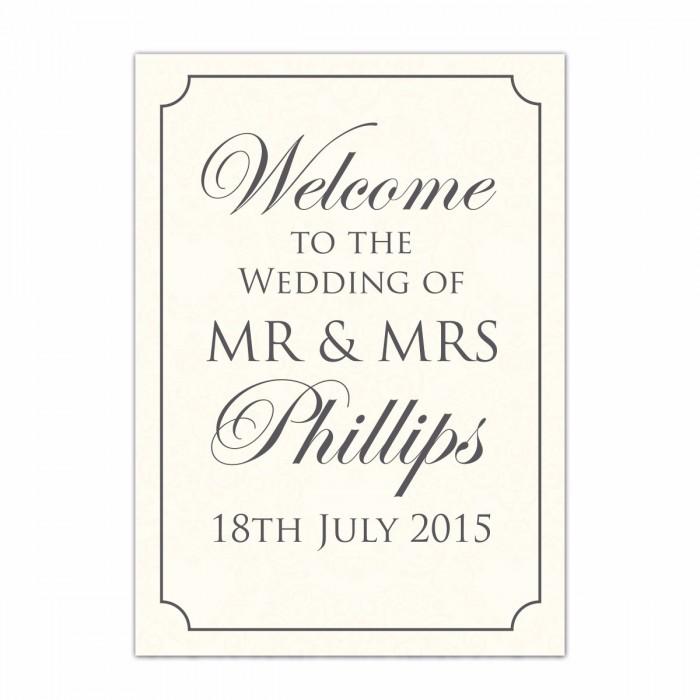 Formal Large Wedding Sign