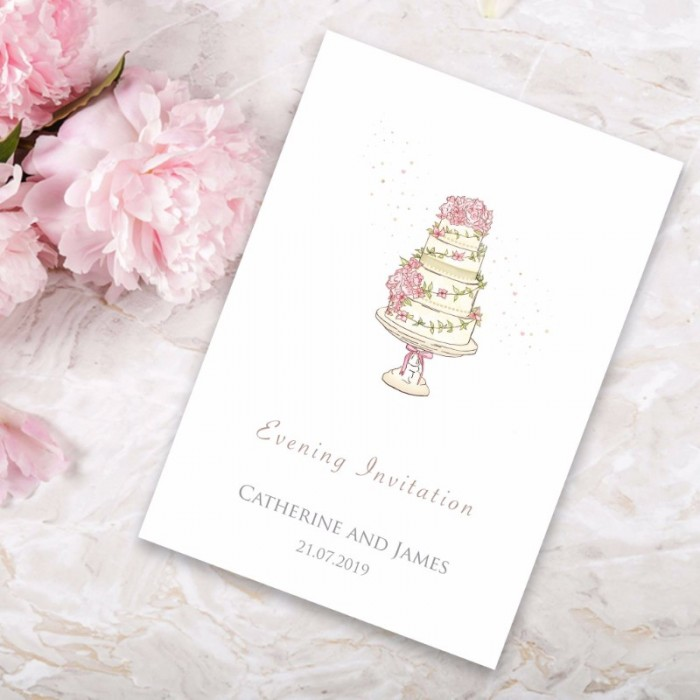 Four Ever Evening Invitation   Paper Themes Wedding Invites