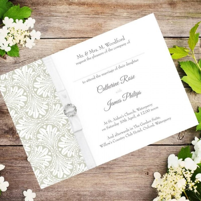 Gold Art Deco Wedding Invitation