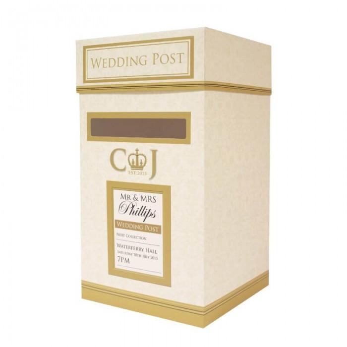 Wedding Postbox Gold