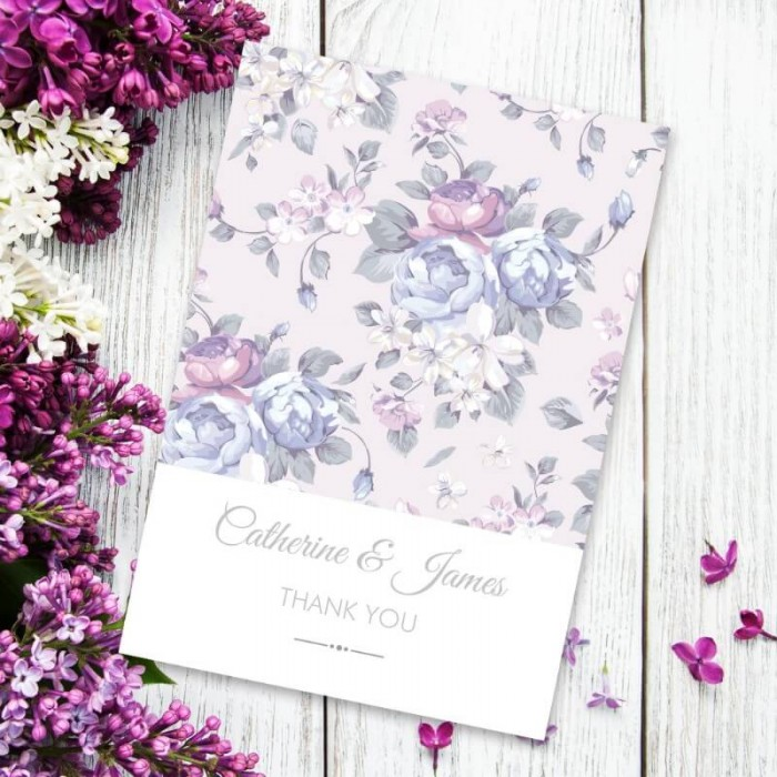 Happiness Flowers Thank You Card