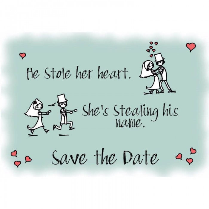 555b9991a7ede He Stole Her Heart Save the Date Card