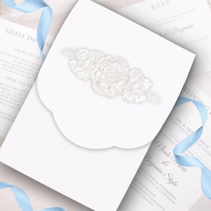 Intricate Rose Wedding Invitation