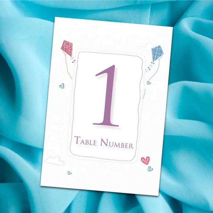 Love Me Tender Table Numbers - Pack of 10