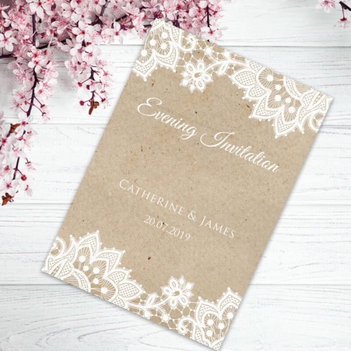 Wedding Lace Evening Invitation | Paper Themes Wedding Invites