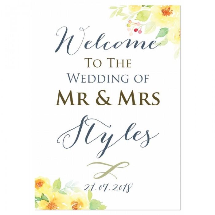 Lemon Blossoms Wedding Sign