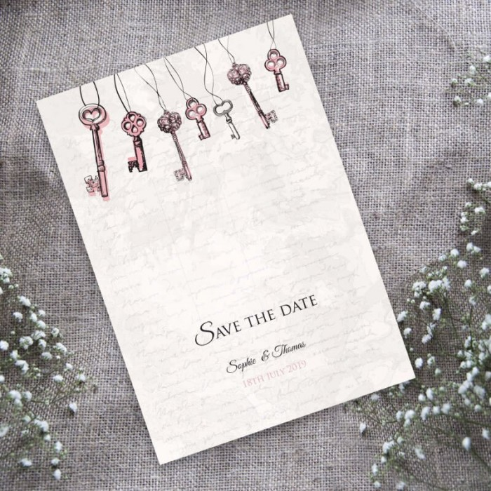 Love is the Key Save the Date Card