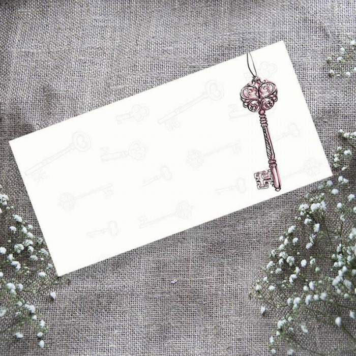 Love is the Key Wedding Place Card