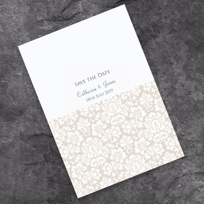 Lustre Save the Date Card