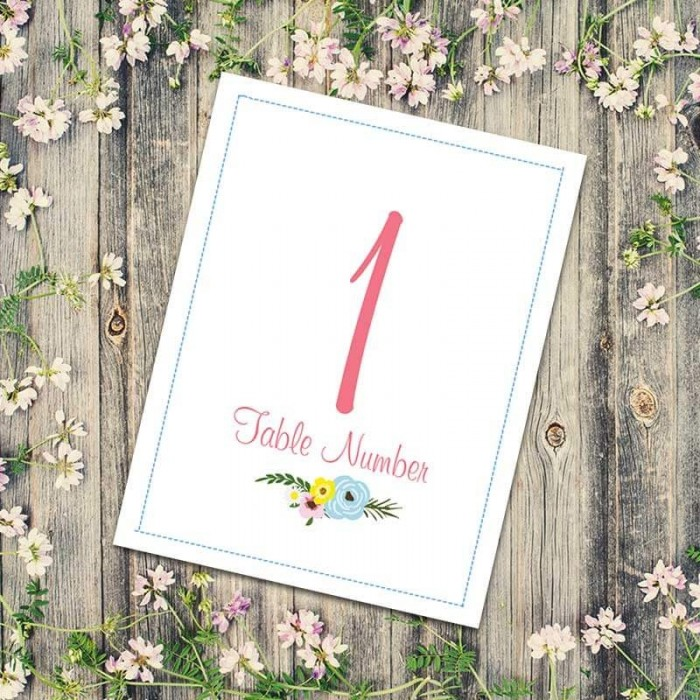 Marriage Vows Table Numbers - Pack of 10