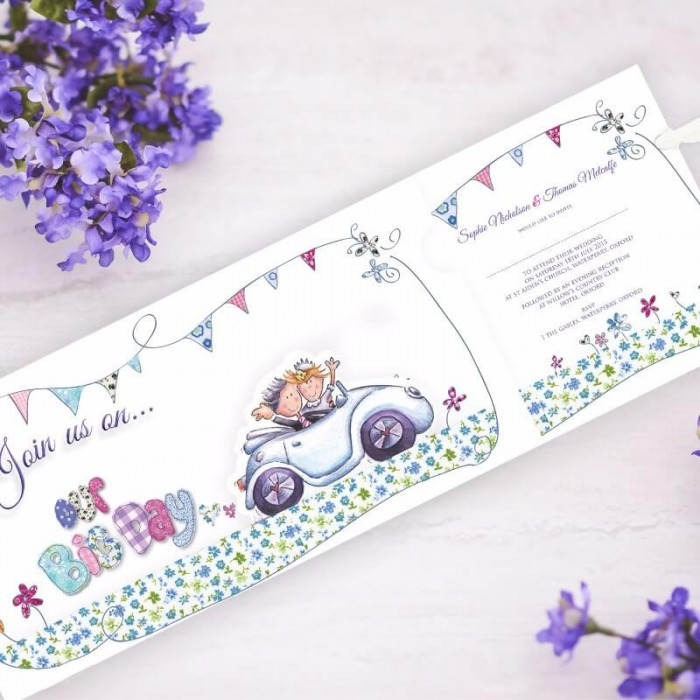 Our Big Day Wedding Invitation | Paper Themes Wedding Invites