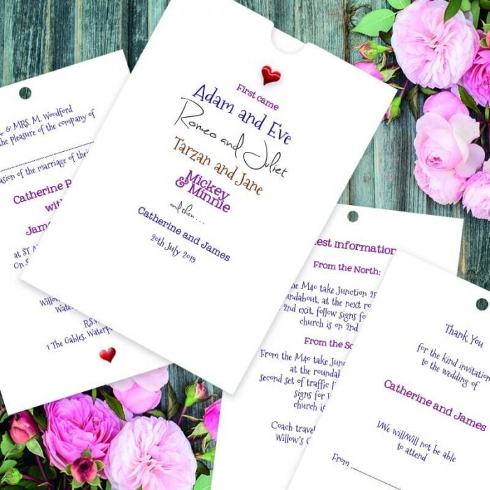 Romeo & Juliet Wedding Invitation