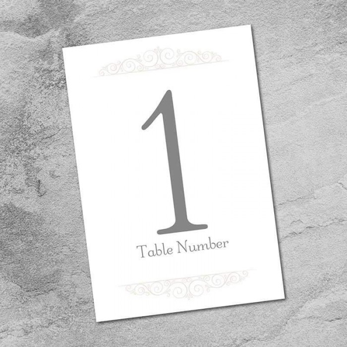 Once Upon A Time Table Numbers - Pack of 10