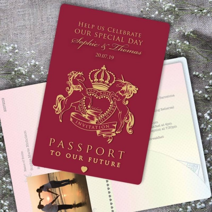 Passport To Love Wedding Invitation Paper Themes Wedding Invites